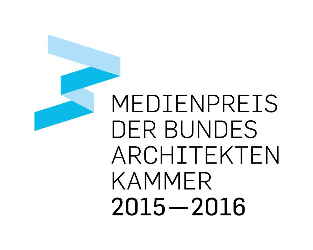 Logo: Medienpreis der Bundesarchitektenkammer 2015-2016