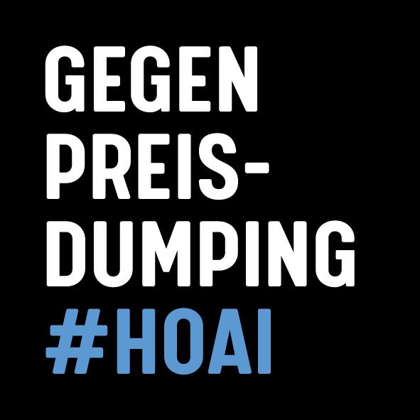 Gegen Preisdumping #HOAI