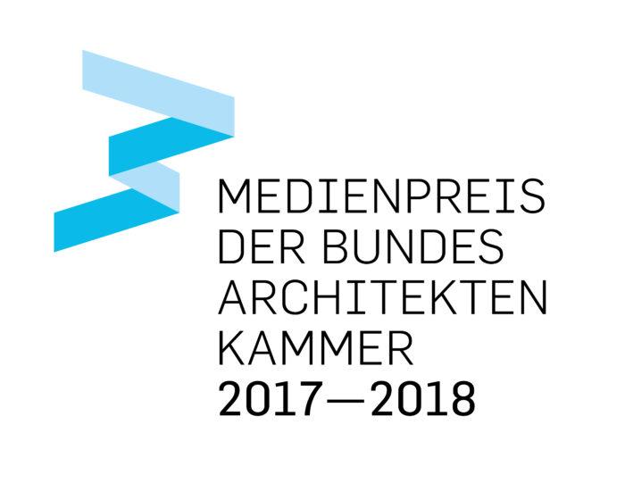 Logo: Medienpreis der Bundesarchitektenkammer 2017-2018