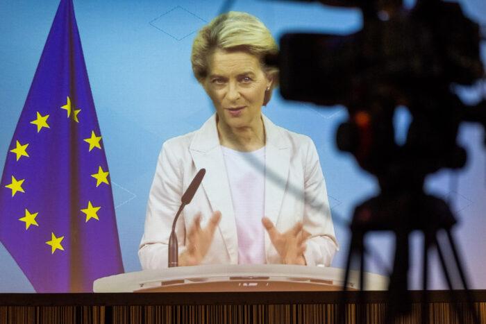Auftakt Ursula von der Leyen, Präsidentin Europäische Kommission (Einspieler) ©Till Budde