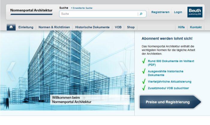 Normenportal Architektur Beuth Verlag