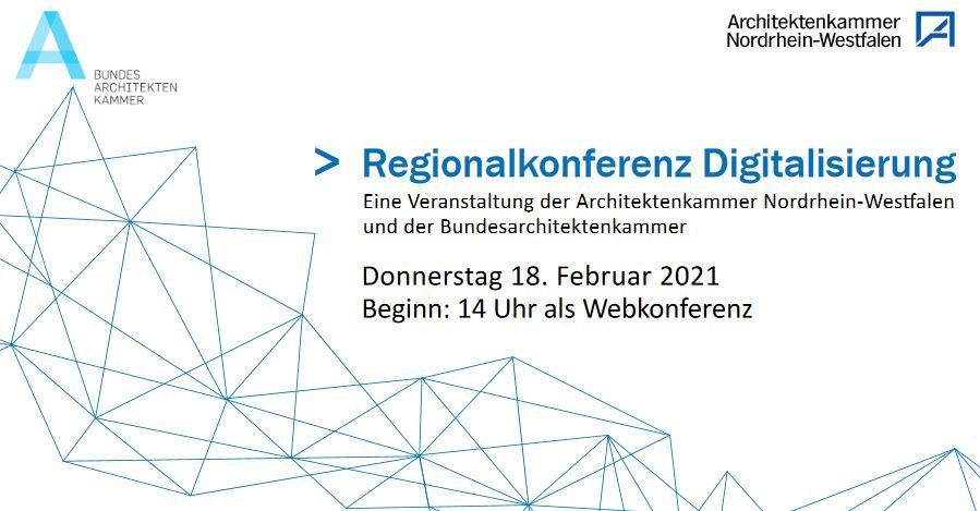 1. Regionalkonferenz Digitalisierung