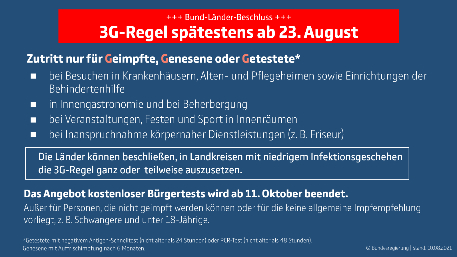 Bund-Länder-Beschluss vom 10.8.2021